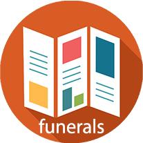funeral brochure button